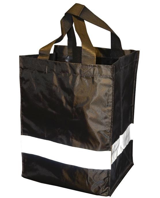 Shoppingbag med refleks Sort